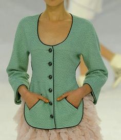 chanel Spring 2012 RTW Cotton Tweed Jacket