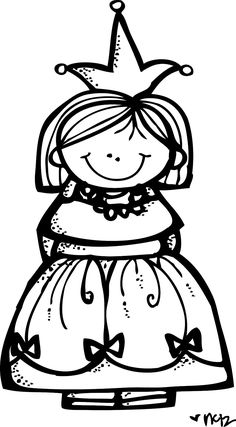 MelonHeadz Aprils Princess Cute Clipart Coloring Pages For Kids Carson Dellosa