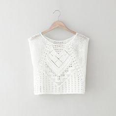 Crochet crop top More