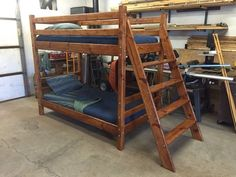 this hand crafted solid wood bunk bed is as sturdy as they come. all of the…