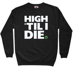 No hood sweatshirts are the best, especially when they involve weed. Ganja, Crew Neck Sweatshirt, Graphic Sweatshirt, T Shirt, Stoner Style, Weed Shirts, Smoking Weed, Dope Outfits, Mens Sweatshirts
