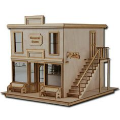 1/2 Scale Dollhouse Kit Laser Cut Taft General Store