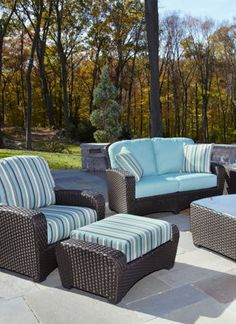 Printed outdoor furniture will create a whimsical appeal for your backyard.