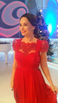 Gorgeous television personality Andreea Marin, looks ravishing in this diaphanous CRISTALLINI red silk chiffon dress with handmade embroidery appliques!  #cristallini #cristallinidresses #famous #celebrity #celebritystyle #luxurious #dresses #luxurystyle #eveningdresses #eveninggown #eveningstyle #redcarpet #redcarpetstyle #fashionista #fashion #style #fashionstyle #tvpresenter #romaniandesigner #reddress #silkdress #handmade #embroidery #beautiful