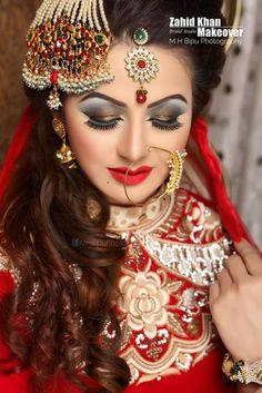 Indian Bridal Makeup, Bridal Makeup Looks, Bridal Looks, Bridal Style, Indian Wedding Photos, Indian Wedding Photography, Indian Weddings, Bridal Makeover, Punjabi Bride