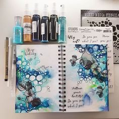 -- Back to my good old art journaling !! How much I missed it ♡ -- ~~ Czas na nowy wpis... Tesknilam ~~ #maremismallart #artjournal #journal #artjournaling #journaling #visualart #visualjournal #mixedmedia #mixedmediart #diaryart #bookart #13arts #painting #onmydesk #inspiration #tonicstudios #instaart