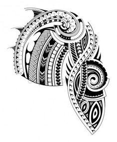 Maori Stil Ärmel Tattoo Vorlage — Stockvektor