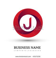 J letter logo in the red circle. Vector design template elements for your application or company identity. - stock vector