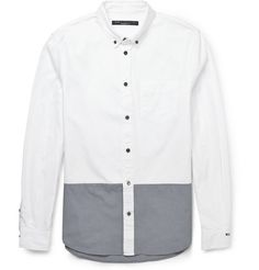 Marc by Marc Jacobs Contrast-Panelled Cotton Oxford Shirt | MR PORTER