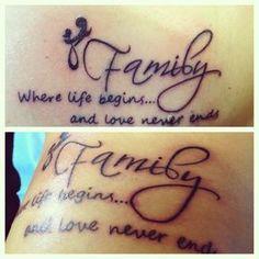 Family Tattoos on Pinterest | Family Infinity Tattoos Family Tattoo ...