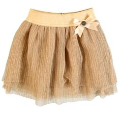 Bold and glittery occasion wear for girls. Gold Tulle Skirt