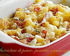 Sbriciolata di patate pancetta e scamorza-ricetta gustosa