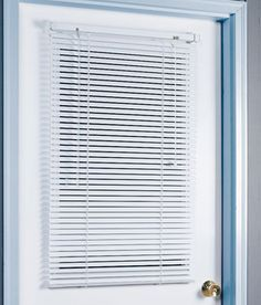 Beautiful Magnetic Aluminum Blind. Use On The Sitting Room Outside French Door. Open  For Sunlight