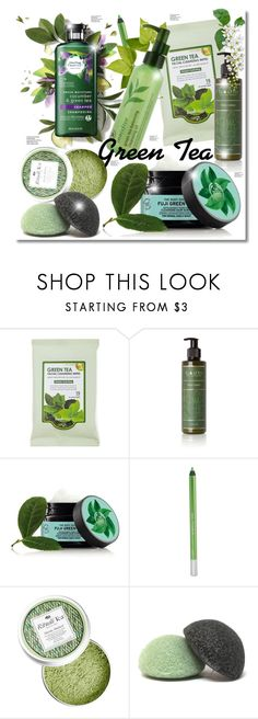 """""""Green Tea"""" by elona-makavelli ❤ liked on Polyvore featuring beauty, Forever 21, Bodhi, Fuji, Urban Decay, Innisfree and Amica"""