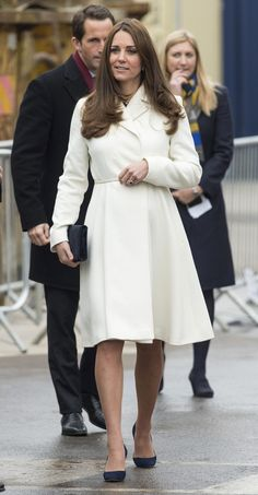 Duchess Kate visits Portsmouth on February 12, 2015.