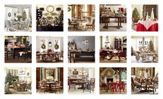 Holiday Dinning. The look to inspire you to be the hostess with the mostess. 1. Ballard Designs 2. Freshome 3. Pottery Barn 4. Williams-Sonoma 5. Wisteria 6. Williams-Sonoma 7. Pottery Barn 8. West Elm 9. Pottery Barn 10. Ballard Designs 11. Ballard Designs 13. Williams-Sonoma 14. Pottery Barn 15.Williams-Sonoma