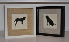 Dog Silhouette.    I really <3 this idea!