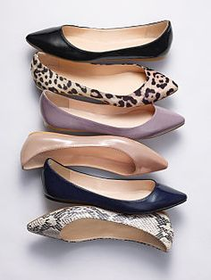 I love flat pointy shoes. I like the leopard, I like the purple, I like 'me all...