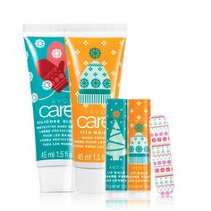 Avon Joyful Treats Mini Collection. The perfect stocking stuffer or teacher gift! Includes: • Joyful Treats Lip Balm- Toasted Marshmallow  • Joyful Treats Lip Balm- Almond Biscotti  • Joyful Treats Mini Nail File  • Avon Care Silicone Glove Holiday Hand Cream • Avon Care Vita Moist Holiday Hand Cream This 5 Piece set valued at $9.95 is on sale for $6.99 in Campaign 24, 2016! Order several sets today at: www.youravon.com/RepJessica  #Avon #StockingStuffers #HolidayGifts #jessicasmakeupplace