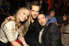Robert Downey Jr., Ben Stiller, and Christine Taylor at Iron man - El hombre de hierro (2008)