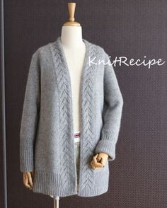 Cardigan Pattern, Knit Cardigan, Sweater Fashion, Knitting, Sweaters, Jackets, Outfits, Clothes, Tops