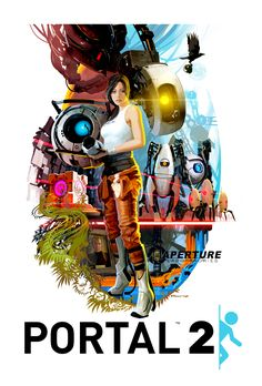 Tristan Reidford - Portal 2 70's Poster (Available in Valve store and on TG http://shar.es/sg4mu)