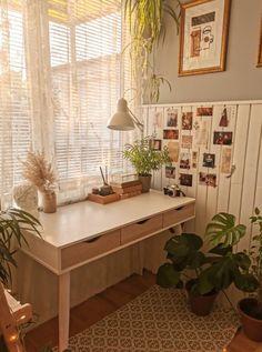 Room Ideas Bedroom, Bedroom Decor, Study Room Decor, Decor Room, Deco Bobo, Deco Nature, Boho Home, Pretty Room, Home Office Decor