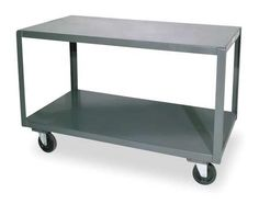 Durham Welded 14 Gauge Steel High Deck Portable Table, 3 Shelves, 1200 lbs Capacity, Length x Width x Height High Deck, Workbench Table, Mobile Table, Rolling Utility Cart, Tv Rack, Portable Table, Table Frame, Spare Room, Table Legs