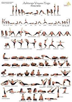 Ashtanga Vinyasa Yoga. Primary Series. Not actually for beginners, but good to know. #yoga #yogaposes