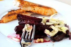 Beet & Fennel Salad Love Beets, Fennel Recipes, Fennel Salad, Veggies, Easy, Salads, Recipes, Vegetable Recipes