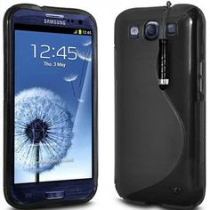 Protective  S-Line Hard Case for Samsung Galaxy S III i9300 -Black - Aulola Online Store $1.11