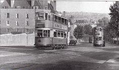 London trams on Dog Kennel Hill London History, Local History, British History, Vintage London, Old London, Old Pictures, Old Photos, Vintage Photos, Bermondsey London