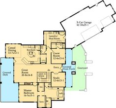 Prairie Mountain Pleaser - 95002RW   1st Floor Master Suite, Butler Walk-in Pantry, CAD Available, Den-Office-Library-Study, In-Law Suite, Luxury, Media-Game-Home Theater, Mountain, PDF, Prairie, Sloping Lot   Architectural Designs