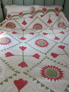 Antique quilt. Love the setting <3