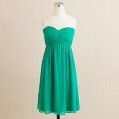 """Gallery Green"" Taryn dress in silk chiffon"