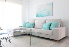 #decoracion veraniega #salon #sofa