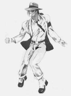 Art with Soul-Black and White - The King of Pop, Rock and Soul! MJ-Smooth Criminal Pencil by HalfLife2007 on DeviantArt
