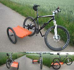 Sidecar on Bicycle DIY DIY Trailer Sidecar - Smart Transportation - Motor Bicycle Sidecar, Cruiser Bicycle, Bicycle Race, Eletric Bike, Bike Cart, Velo Cargo, Bike Photography, Kayak, Touring Bike