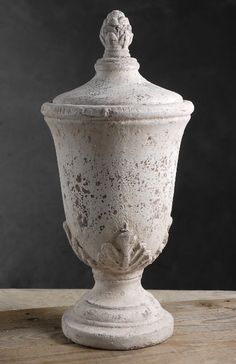 """17"""" Ceramic Pedestal Jar with Lid $16.99 each / 3 for $16 each   Could use without lid for flower centerpieces"""