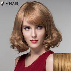 Stunning Short Shaggy Wavy Fashion Side Bang Capless Human Hair Wig For Women #CLICK! #clothing, #shoes, #jewelry, #women, #men, #hats