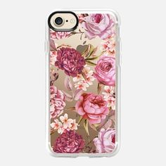 iPhone 7 Case Blush Pink Rose Watercolor Chic Illustration Floral Pattern
