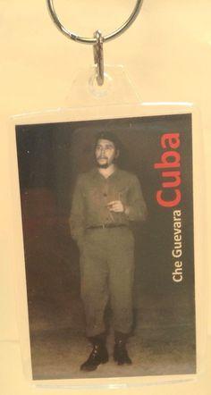 Vintage Promotional Keychain~CUBA~Ancien Porte-Cle~CHE GUEVARA~Smoking A Cigar