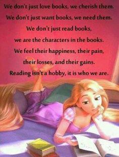 """We don't just read books."""