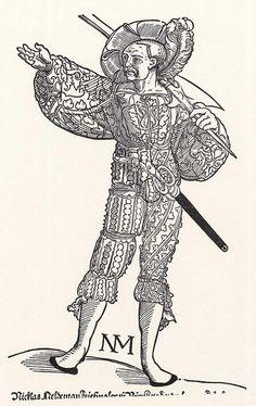 Landsknecht mit Helmbarte (um 1535)