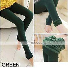 Women Solid Color / Fleece Lined Legging , Cotton Medium 2016 – $8.99