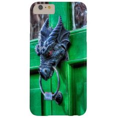 Welsh Cast Iron Dragon Head Door-knocker Barely There iPhone 6 Plus Case. Photo taken in Chepstow Village, Wales, UK.