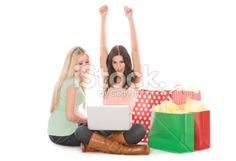 Online Shopping Victory Royalty Free Stock Photo