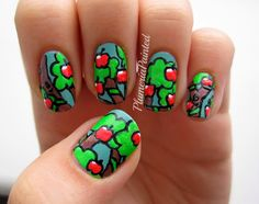PlumeriaPainted #nail #nails #nailart