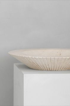 The Locus Bowl designed by Sofie Østerby. Locus is a part of our new collection, Complements, it's crafted in raw Italian travertine. A decorative bowl, elegantly proportioned and exceptionally crafted with grooves around the outer edge as a graphic expression of the stone carving process.  #fredericiafurniture #complements #locusbowl #locus #sofieøsterby #modernoriginals #craftedtolast #interiordesign #danishdesign #scandinaviandesign Danish Design, Modern Design, Bowl Designs, Stone Carving, Travertine, Scandinavian Design, Decorative Bowls, Traditional, The Originals