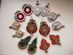 MirSi handmade jewels: Soutache earrings - winter collection